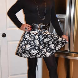 Poofy Skirts And Suede Ankle Booties Is Where It's At!
