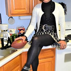 Wasn't Sure Four Years Ago What Outfit To Wear To The Super Bowl!