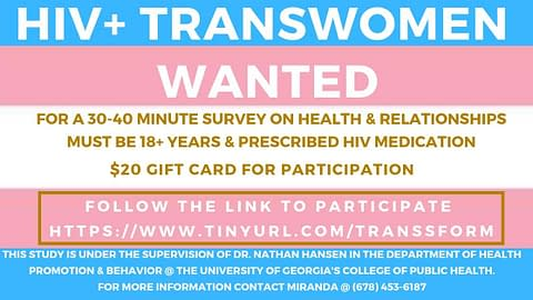 Scholar Program – Transwomen's Social Support for Medication Adherence
