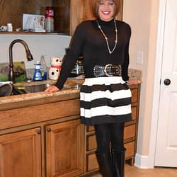 Another skirt borrowed from my wife's closet.