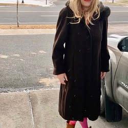 Hot pink tights.