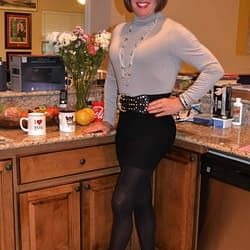 Love To Wear Spandex Skirts With Opaque Tights In The Fall!