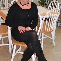 Black Suede Boots With 4 Inch Heels Are Sexy!
