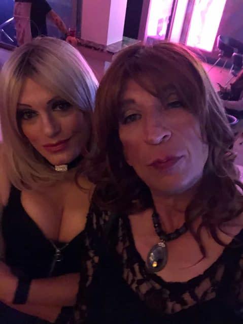 With Gigi at a local bar