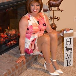 I love showing off these dresses by our fireplace!