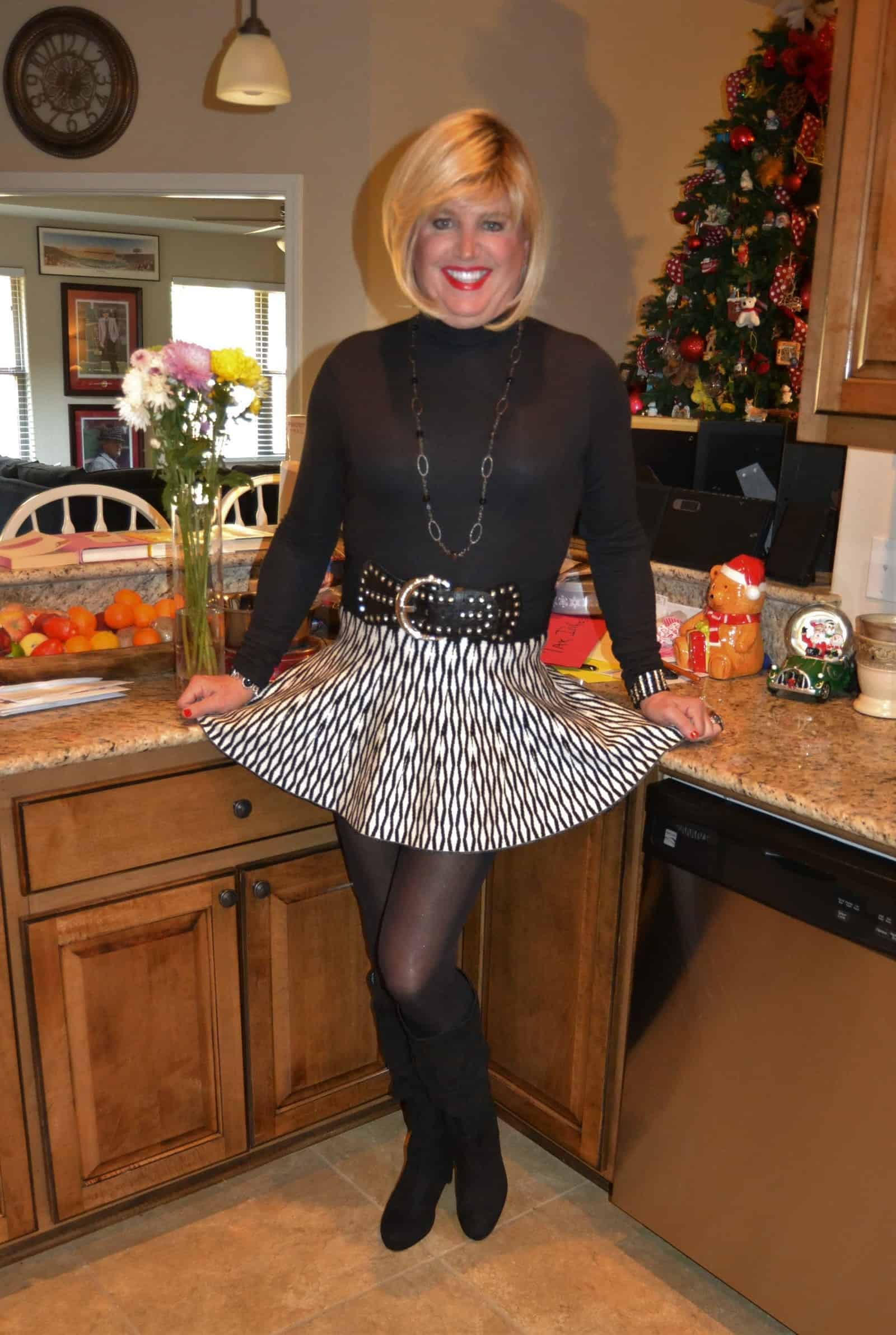 I Love Just A Classic Skater Skirt
