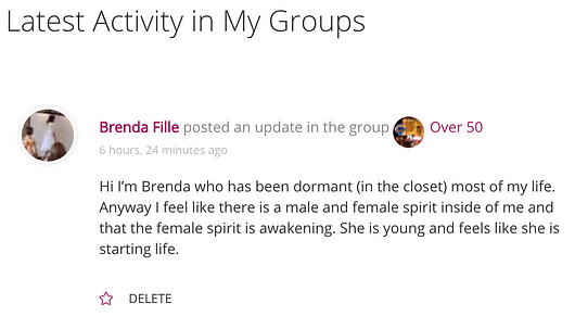 Groups Activity on Home Page