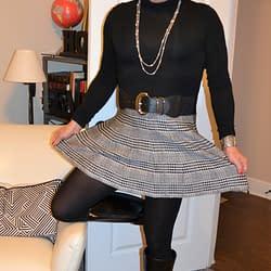 Got A New Black And White Plaid Skater Skirt!