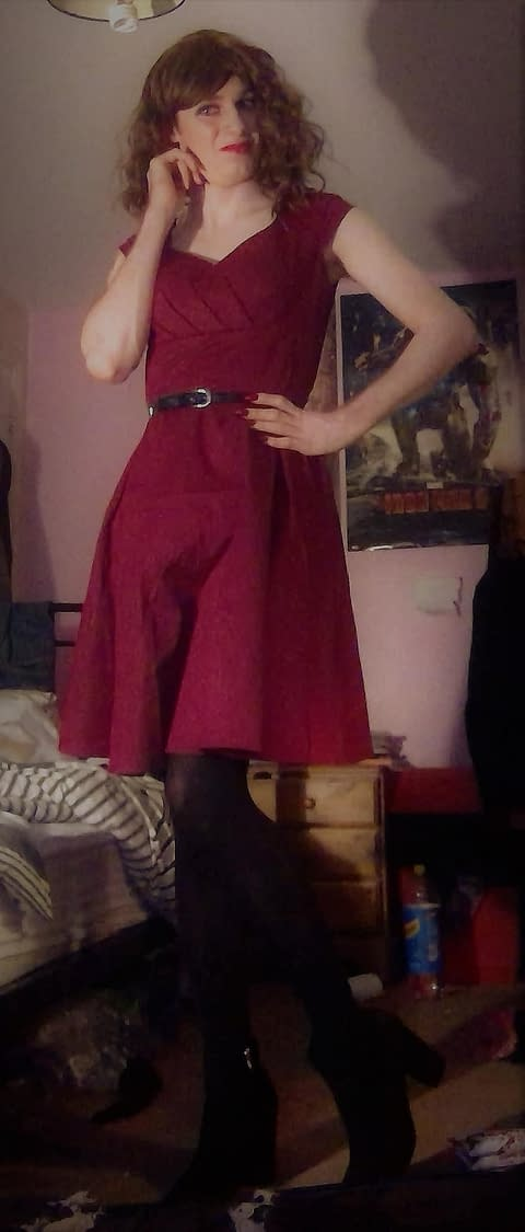 new dress at home alone.