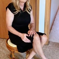 Black dress with pantyhose