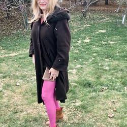 Hot pink tights