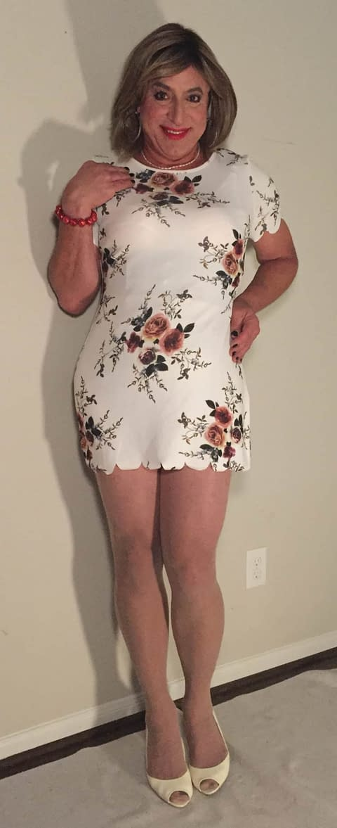 Above the knee floral dress