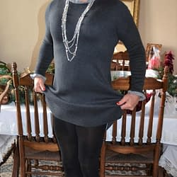 Don't Ya Love Black Tights, Wool Dresses, and Suede Ankle Booties!