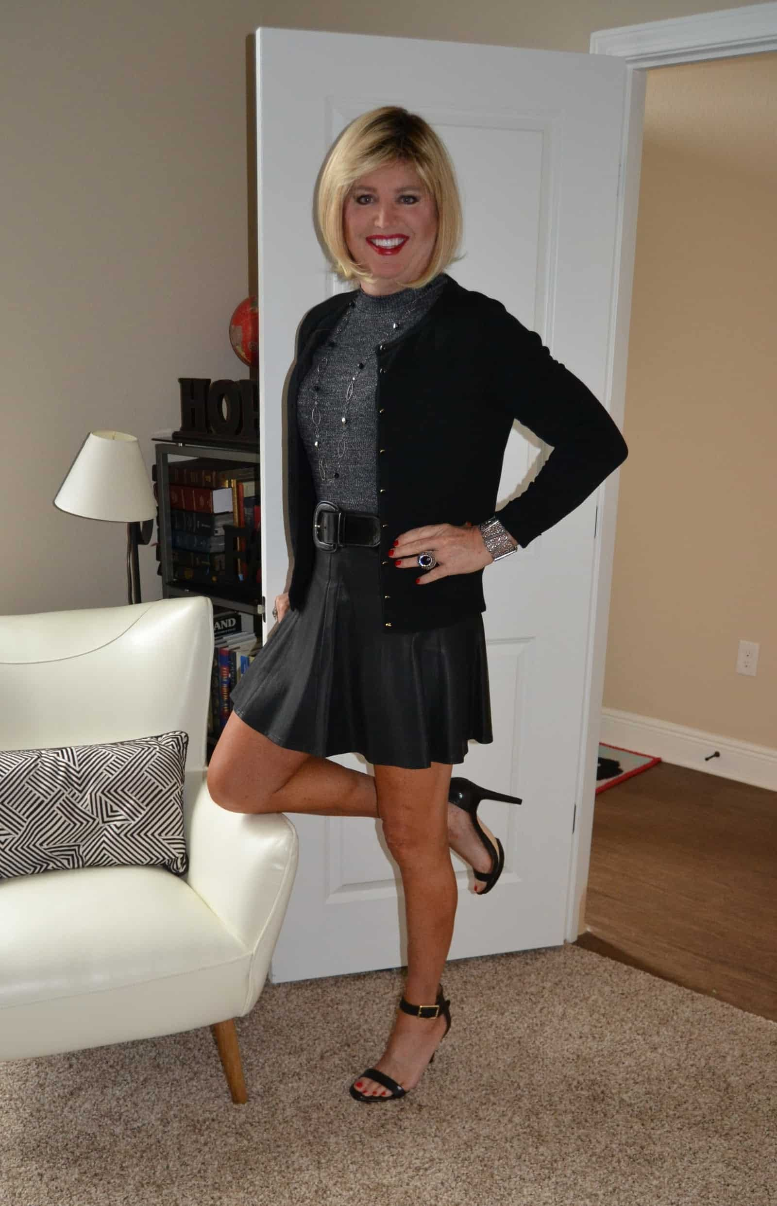 Leather Skater Skirts Are Just So Yummy!