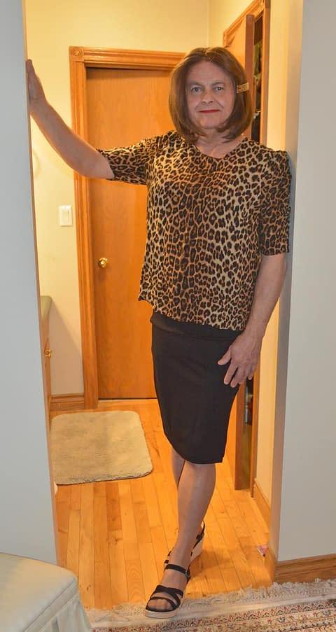 Different Leopard print blouse