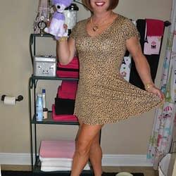 Leopard Dress…Purple Poodle