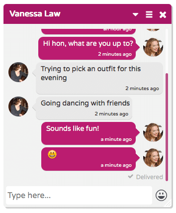 Chat conversation