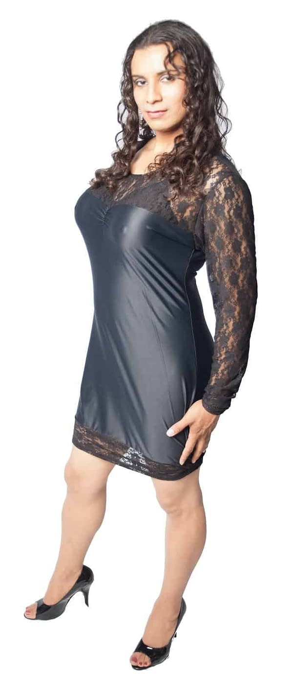 Lace Top Lycra Dress