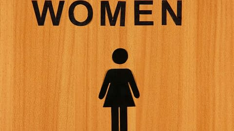 The woman's restroom...