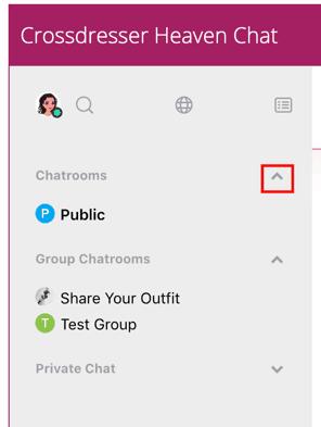 Crossdresser Collapse Chat room listing