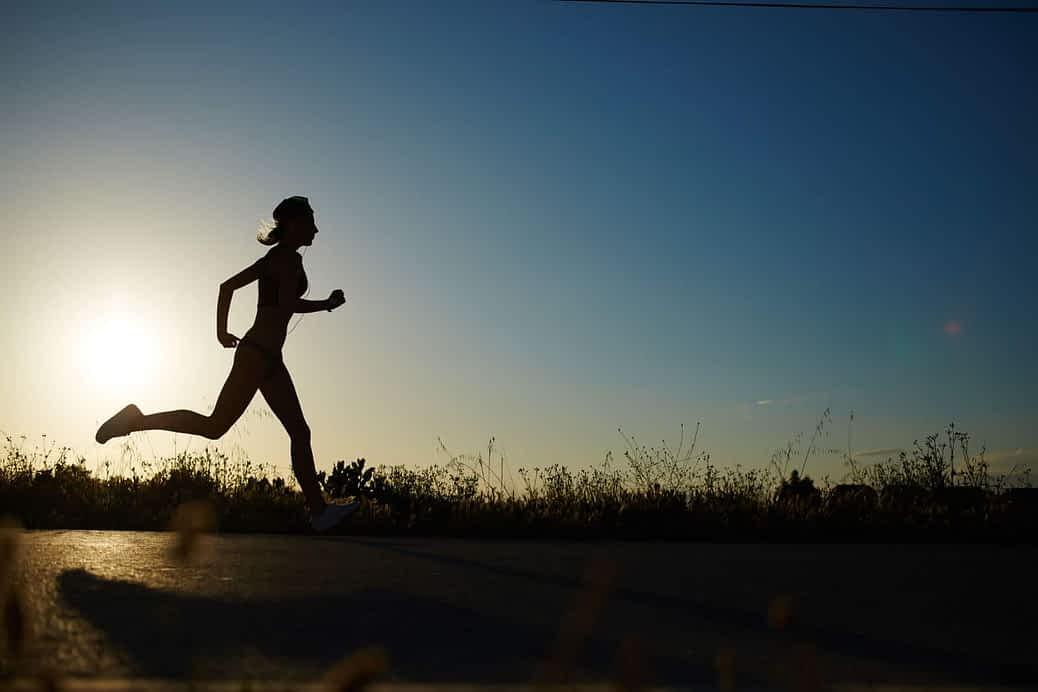 Crossdresser running fast