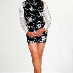 New Black Rose Dress