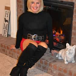 I Love Spandex Mini Skirts Paired With Over The Knee Boots!