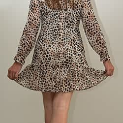 Leopard Print Dress (from the back)