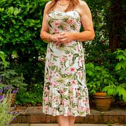 Strappy Summer Midi dress (with white shoes)