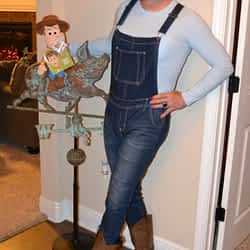 Just being goofy with my Woody and my pig!
