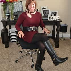 I Love Wearing Long Sleeve Wool Dresses!