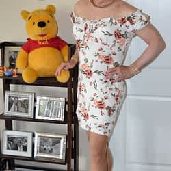 Pooh seems to really like this dress!