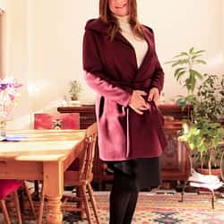 Black Skirt, Black Ankle boots and Coat