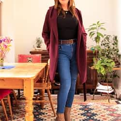 Jeans, Tan Ankle boots and Coat