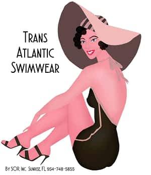 Trans-Atlantic Bathing Suit Logo