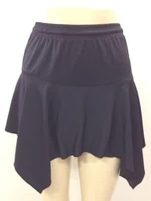 Black Handkerchief Skirt