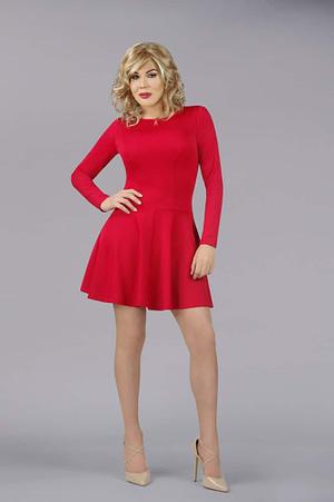 The En Femme Party Swing Dress In Red