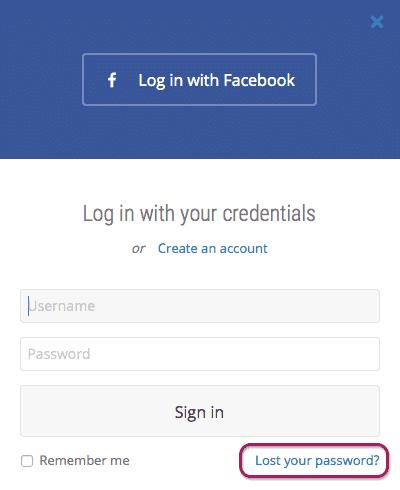 Lost Password