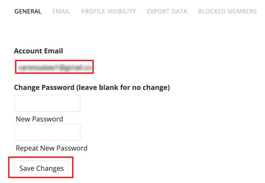 Change Crossdresser Heaven Account Email