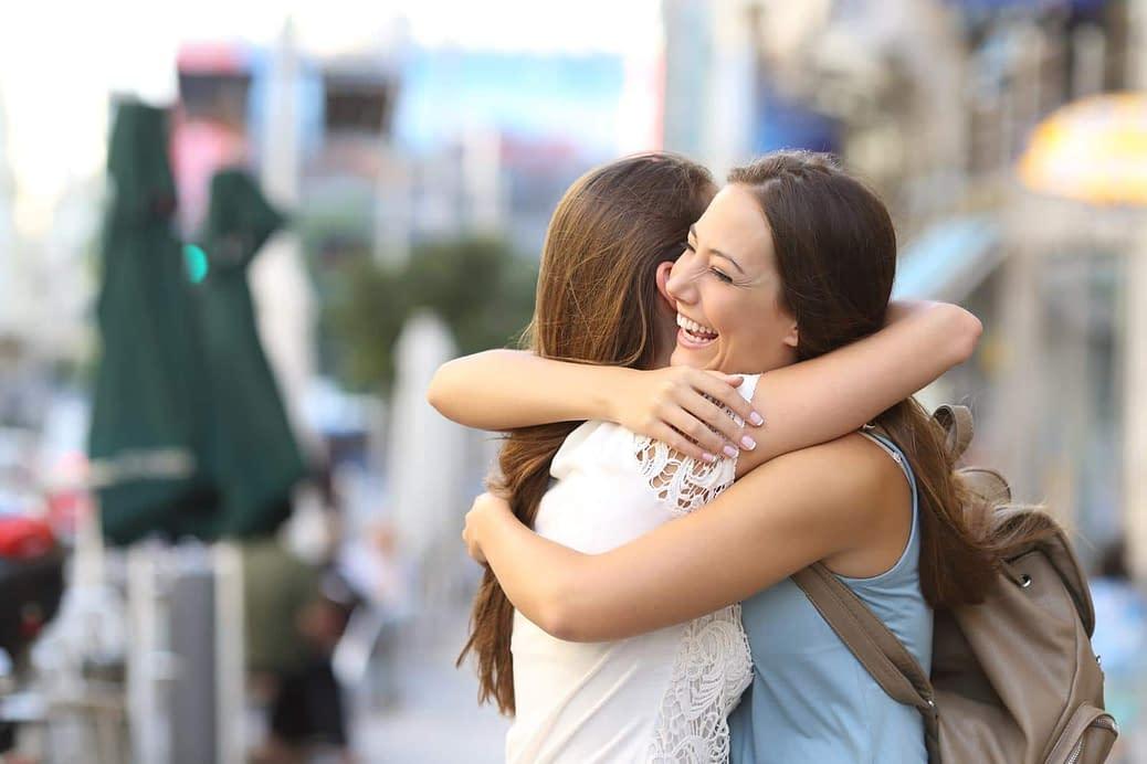 Two transgender women hugging