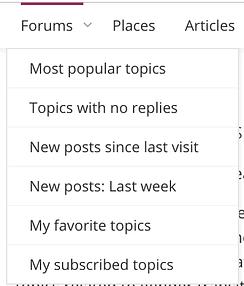 Forums Dropdown