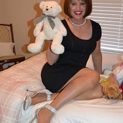 Scarlett In Bed With Her Teddy And Her LBD!