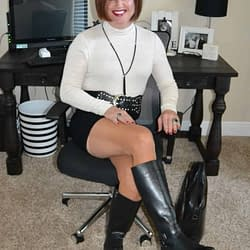 I Love Knee High Boots With Spandex Mini Skirts!