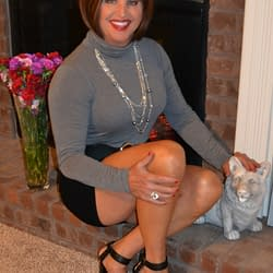 Me In Black Spandex Mini Skirt Still With No Hose Or Padding!