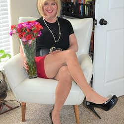 I Thought You Girls Would Like To See Another Picture Of The Red Mini Skirt!