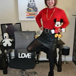 Minnie Mouse Loves My Leather Mini Skirts!