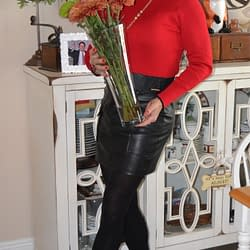 Flowers, Foxes, and Leather Go Together!