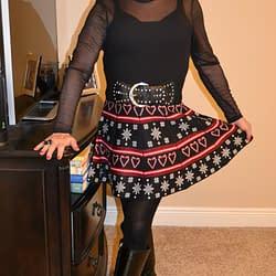 Just Waitin' On Santa In My Christmas Skirt!