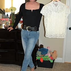Body Suit & Jeans or Stretch Lace?