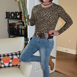 Don't You Girls Love Pairing Animal Print Tops With Jeans?